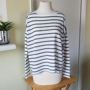 One by one teaspoon striped long sleeve shirt